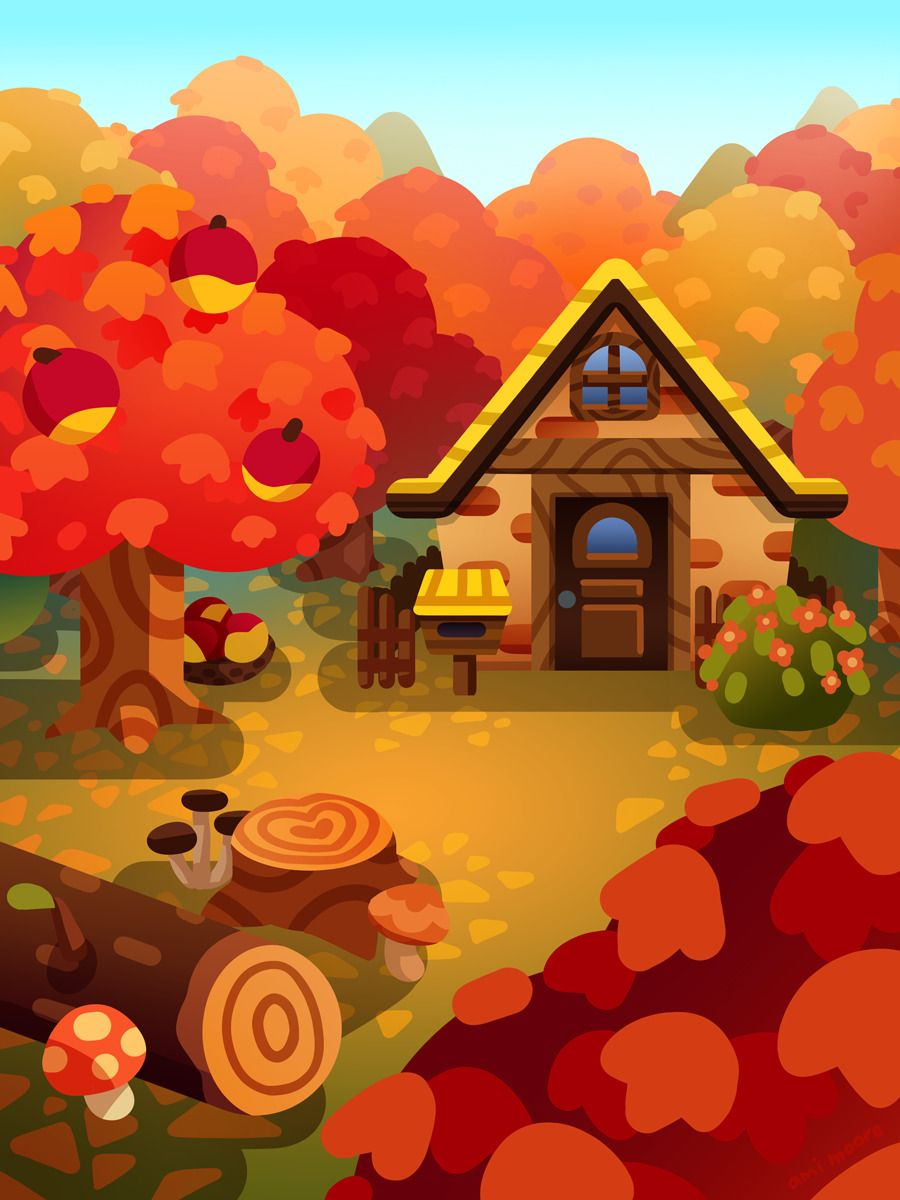 All Things Cute Autumn And Halloween Any Photos Posted Are Not Mine Unless Directly Stated In 2020 Autumn Art Fall Colors Animal Crossing