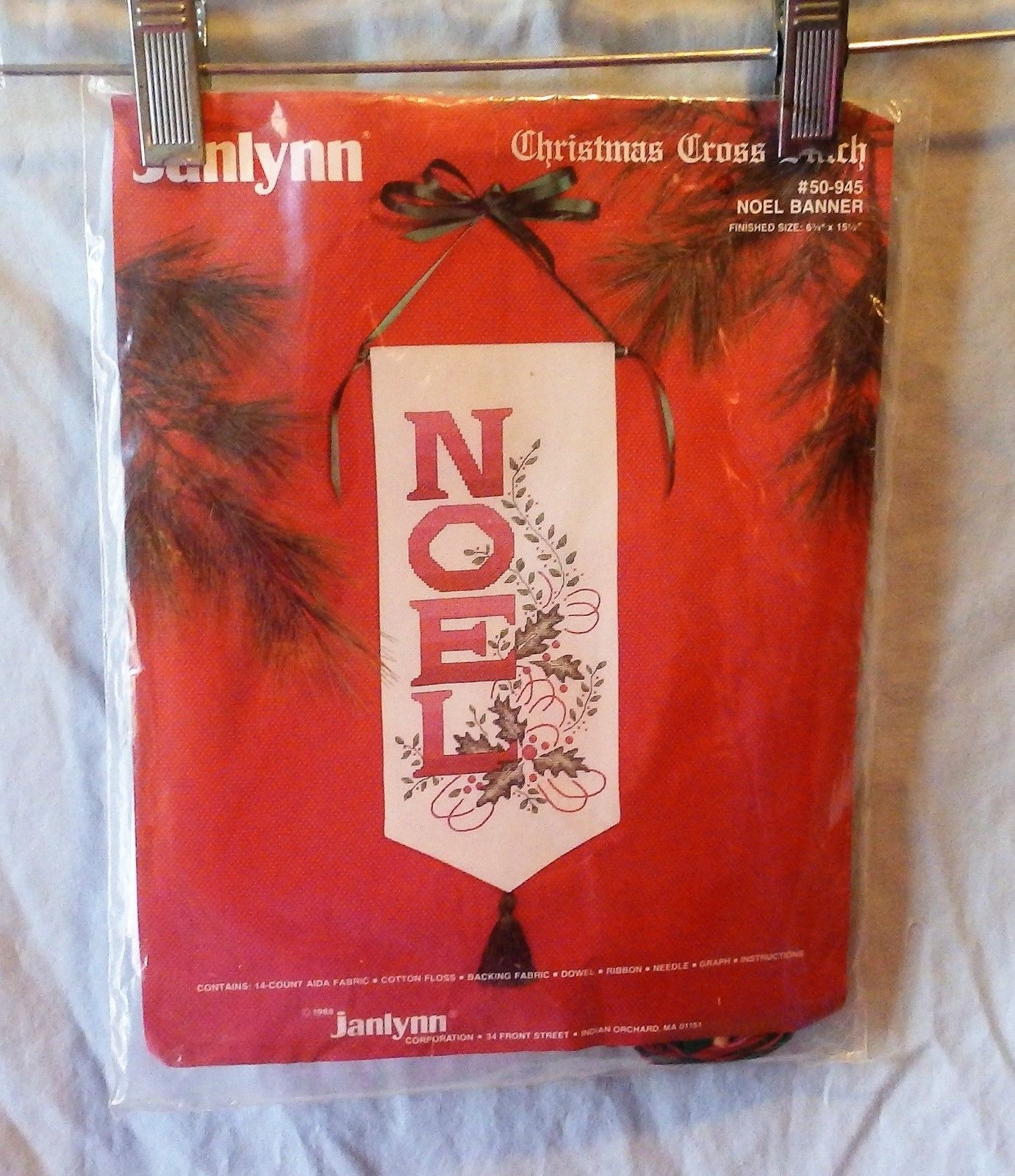 Janlynn Christmas Noel Banner Counted Cross Stitch Kit #50 945 -