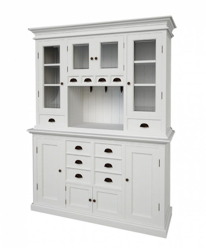 Small Kitchen Hutch Buffet Kitchen Ideas intended for white ...