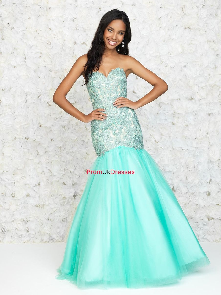 Mermaid Embroidery bodice layers of tulle Prom Dress PD11805 ...