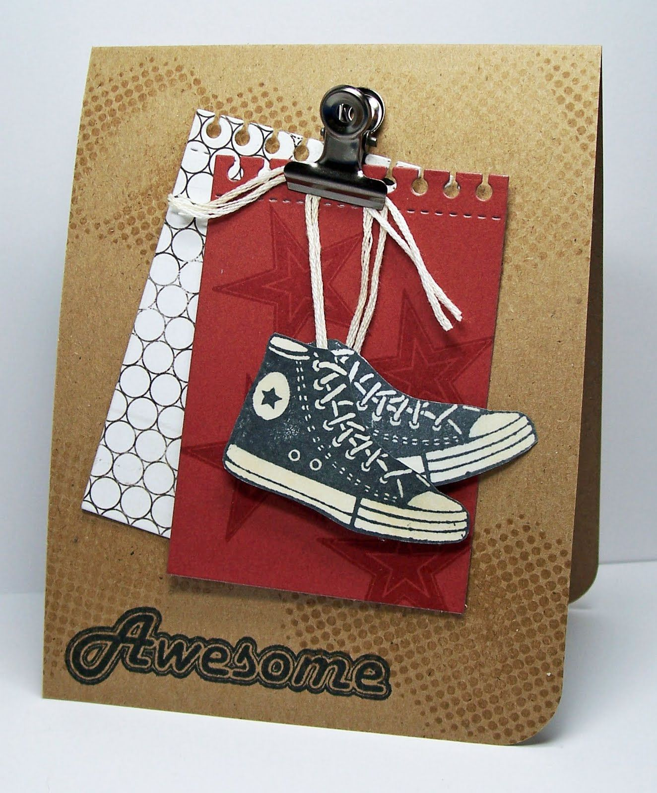 Handmade Birthday Cards For Guys 18 ~ Sneaker card male cards pinterest masculine and ideas
