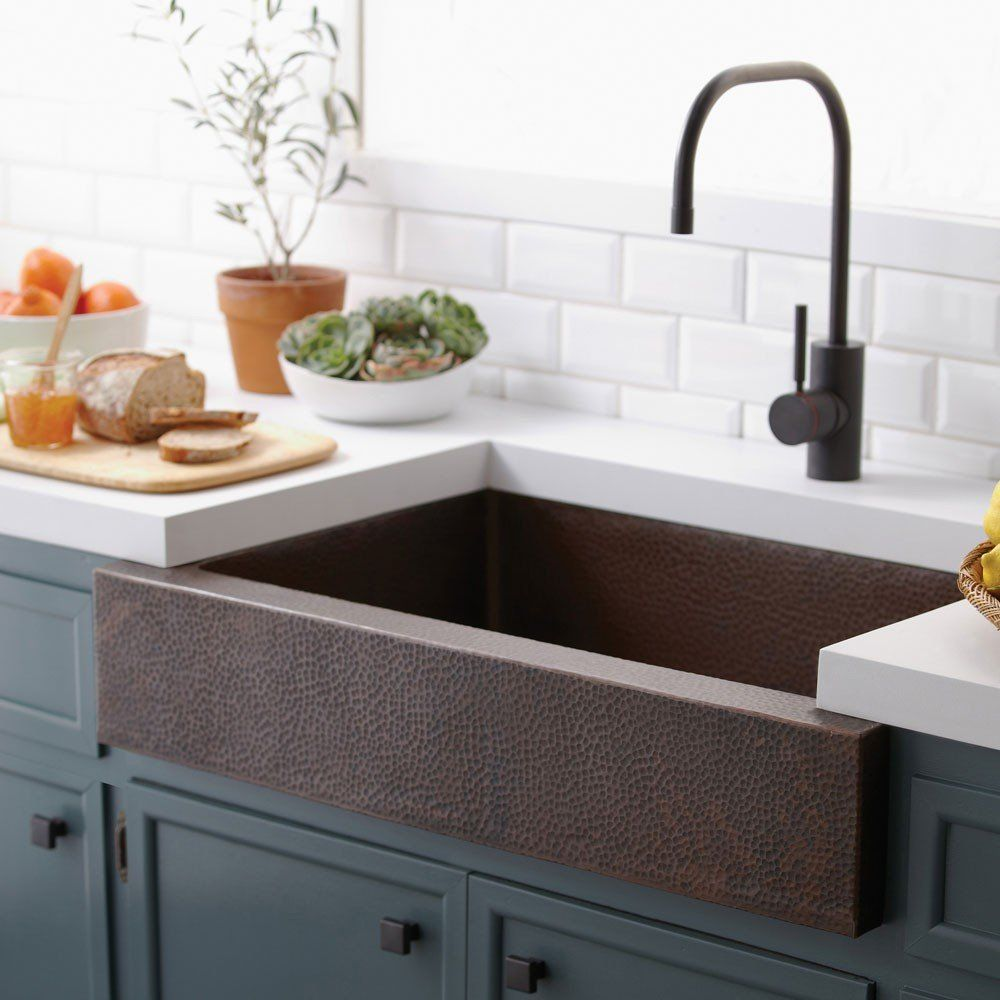 Paragon 33 Inch Apron Front Copper Kitchen Sink Farmhouse Sink