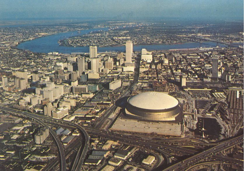 Aerial View of New Orleans 1970s Uncredited on Flickr