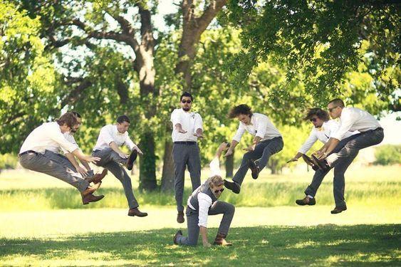 20 Hilarious and Creative Groomsmen Photo Ideas - #Creative #Groomsmen #Hilarious #Ideas #Photo #weddingideas #weddingphotoideas