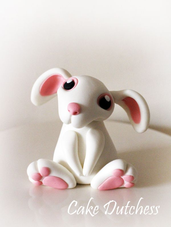 Fondant Bunny - Free Tutorial by Naera. #Art #Сakes #Decorate #gosstudio #food .★ We recommend Gift Shop: http://www.zazzle.com/vintagestylestudio ★