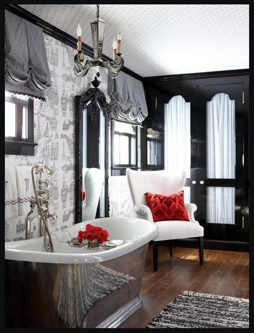 Black and red bathroom deco pinterest salles de bains de r ve deco salle de bain et salle for Salle de bain de reve