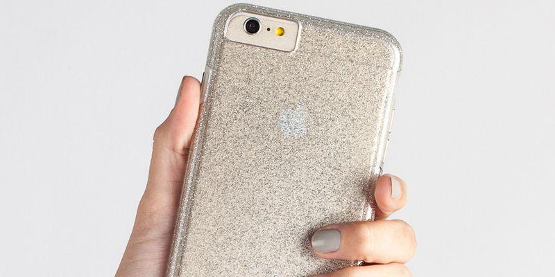 Чехол для iPhone 6, 6S гибридный прозрачный Case-mate (США) Tough Naked Glam золотистый - Portative.by
