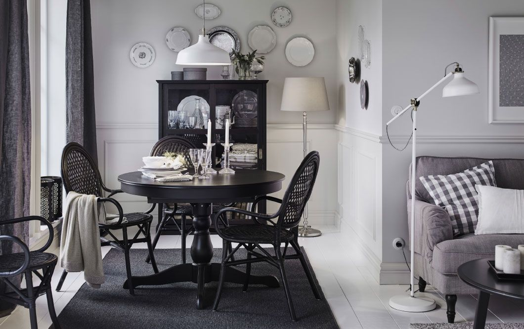 Buy Furniture Malaysia Online Black round dining table
