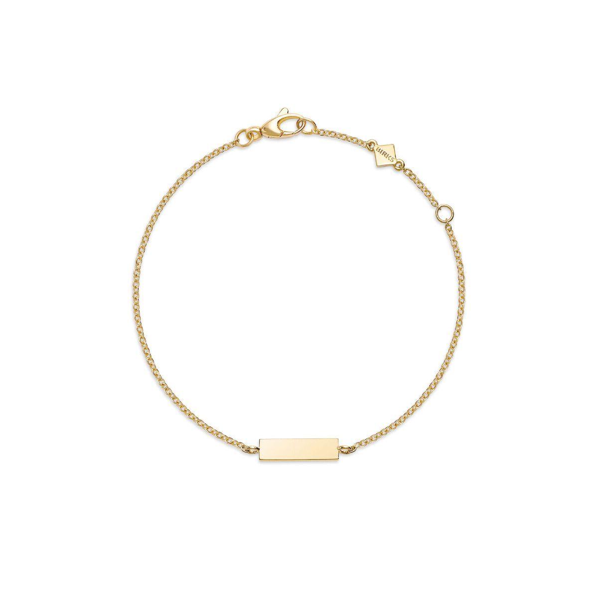 Baby yellow gold bar bracelet birks babies u kids pinterest