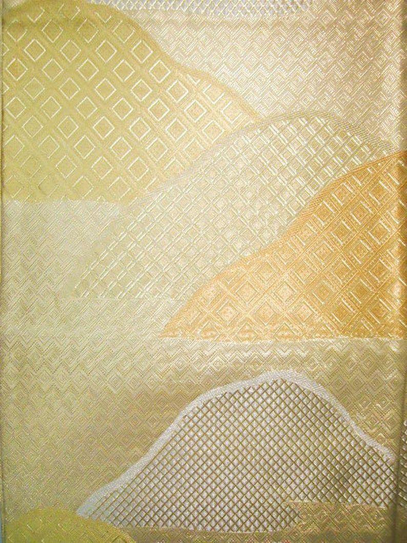 I0928U Used Japanese Gold FUKURO OBI sash Grade B   Etsy