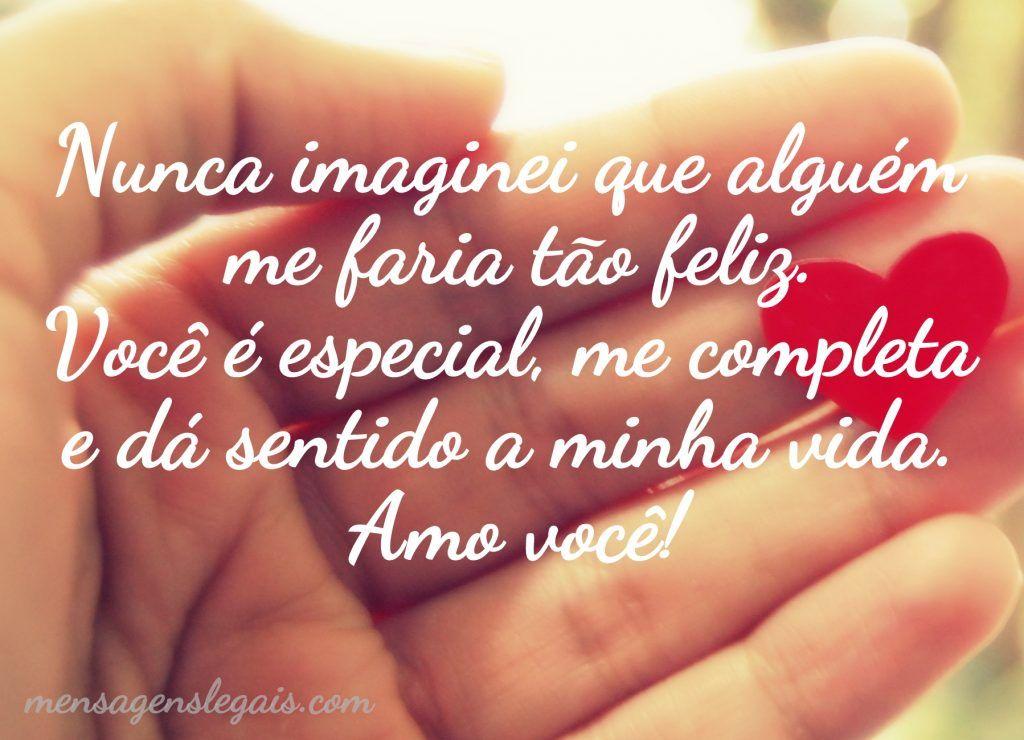Se Existe Felicidade Perfeita Eu Não Sei Mas Perto De: Nunca Imaginei Que Alguém Me Faria Tão Feliz