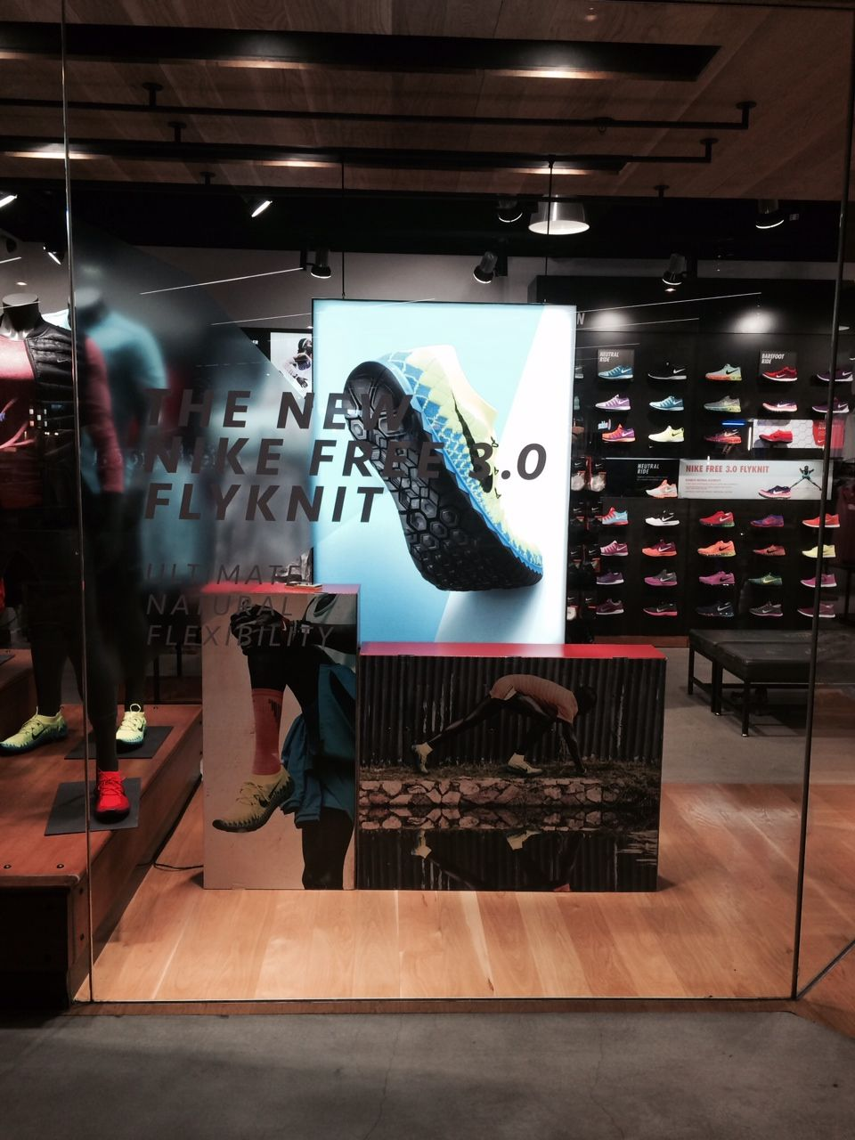 Nike Free 3.0 Flyknit retail window display light box