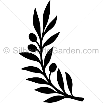 Olive Branch Silhouette Silhouette Clip Art Olive Branch Clip Art