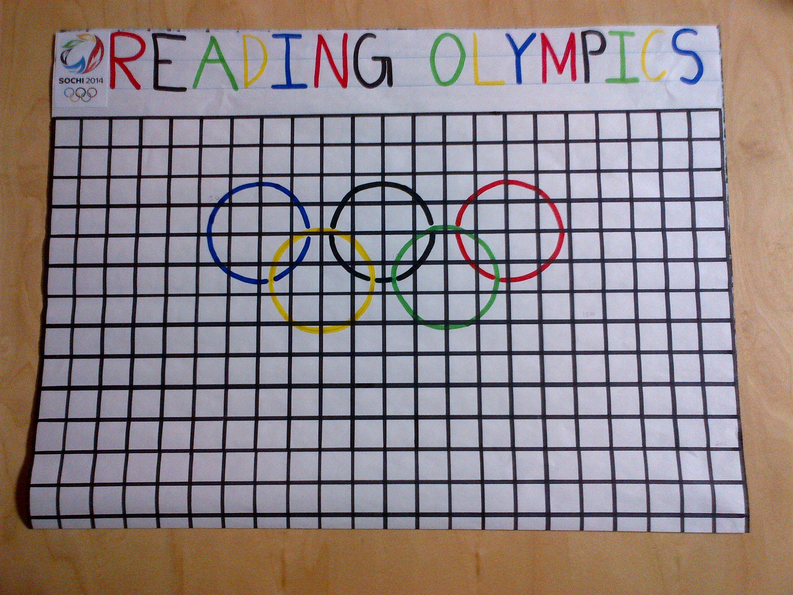 I Love To Read Month Reading Olympics T A Goal And