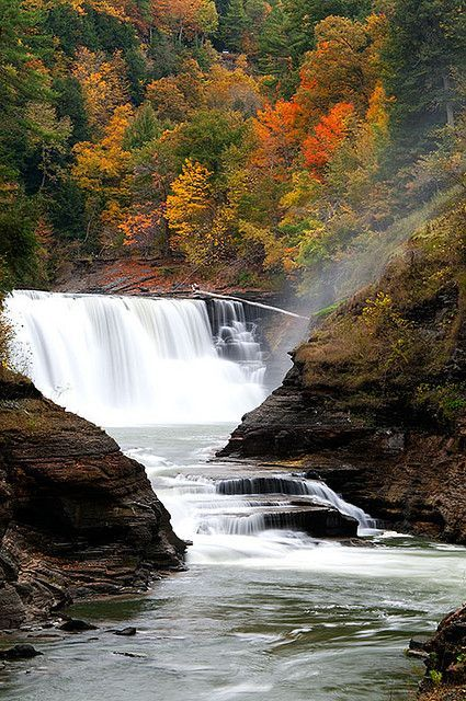 Autumn - Lower Falls, Letchworth State Park, Castile, NY
