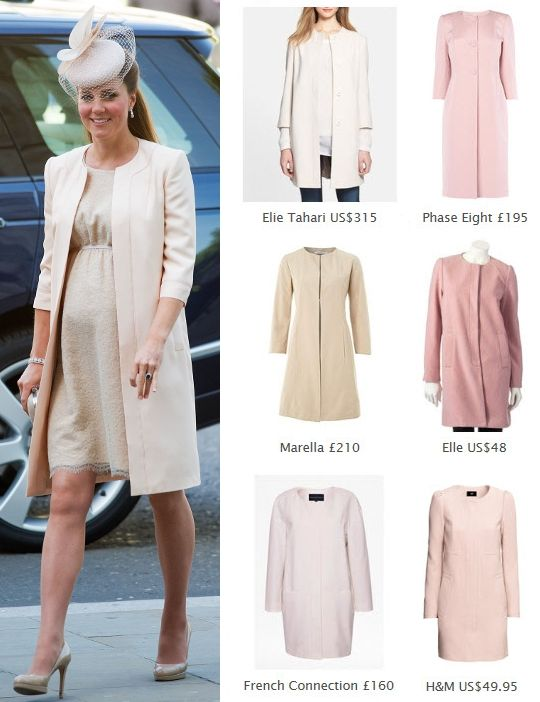 6b6443036a1 Kate Middleton Style Inspiration. SHOP these repliKates of the Jenny  Packham blush pink coat