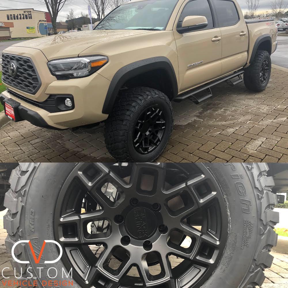 Toyota Tacoma With Black Rhino Ridge Wheels 2020 2019 Toyota