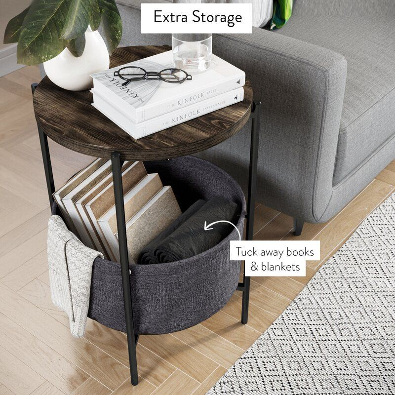 Bluxome Tray Table Side Table With Storage Side Table Wood