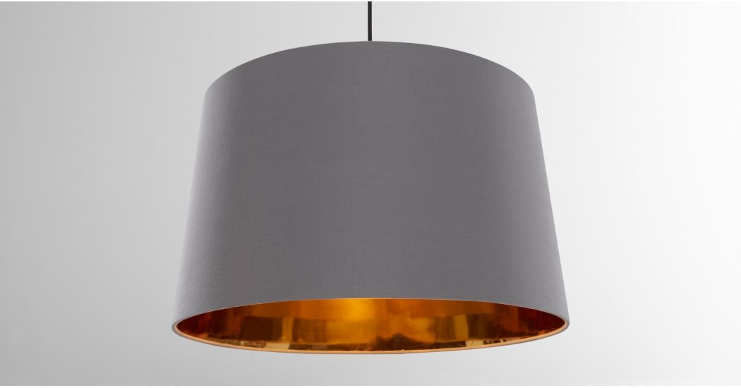 Oro Extra Large Tapered Pendant Drum Lamp Shade Navy And Copper Navy Copper Ceiling Light Shades Copper