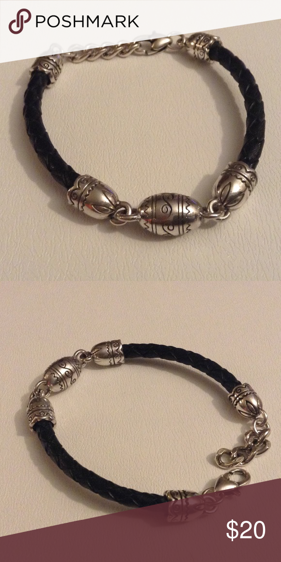 Brighton Bracelet Pre Loved Braided Leather And Silver Plate Bracelet Like Me No Flaws Or Defects Brighton Jewelry Bracelets Brighton Bracelets Bracelets Braided Leather