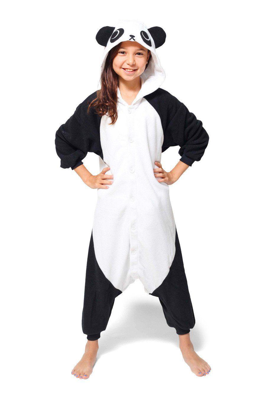 edaa1536a746 (110cm) Kids Panda Kigurumi Onesie Animal Costume Pajamas