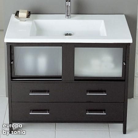 bathroom sink and vanity. Europa Air Bathroom Vanity  Contemporary Vanities And Sink Consoles Other Metro Unicahome A Shape With A Big Sink Could Store Cleaning Brush And