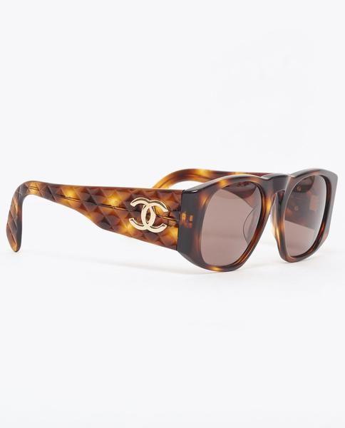 e31f840fb07e Vintage Chanel tortoiseshell quilted arm sunglasses | HOT ARRIVALS ...