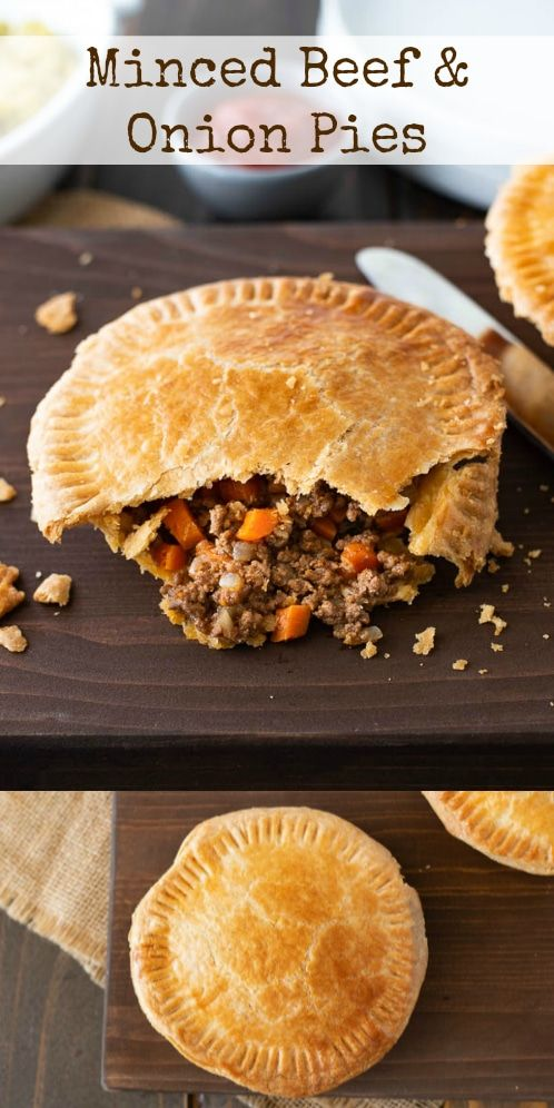 Minced Beef And Onion Pies Recipe Minced Beef Recipes Onion Pie Savory Meats