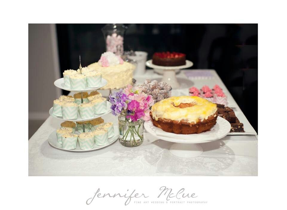 DIY cake table ~ Home baked sweets