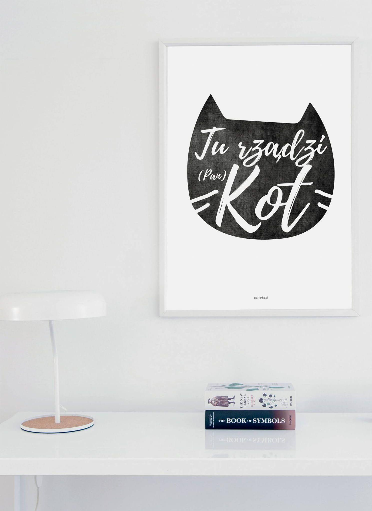 Plakat Tu Rzadzi Kot Plakat Kolory I Betta