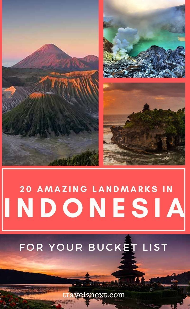 20 Incredible Landmarks in Indonesia. Indonesia has so many islands; even the experts aren't sure how many there are. #indonesia #travel #jakarta #bali #balitravel #borobudur