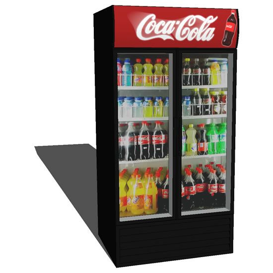 Soda And Food Filled Refrigerator Fantasy Room