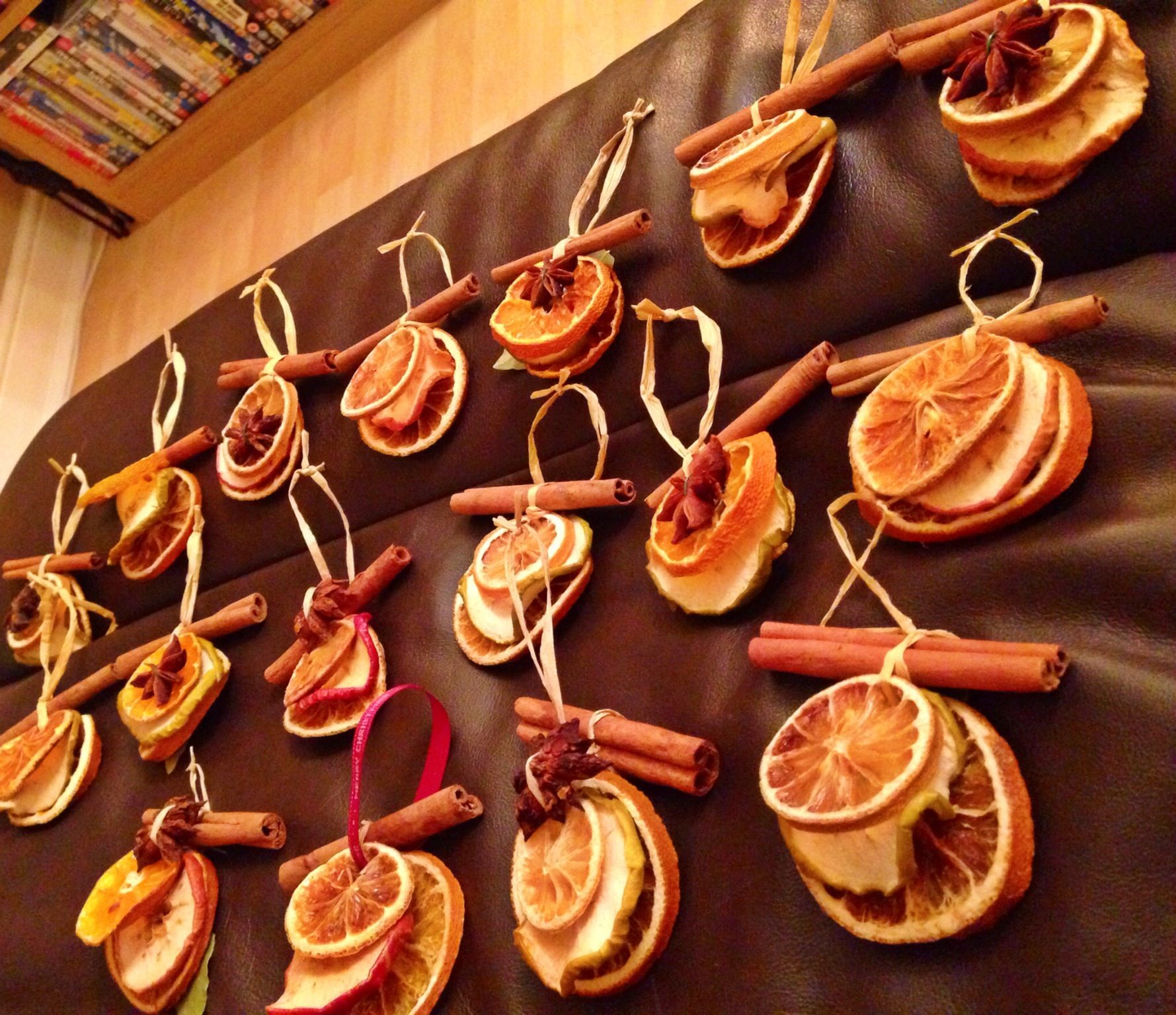 My Homemade Dried Fruit Decorations Use Orange Lemons And Apples Then Add Cinnamon Stick Orange Christmas Easy Christmas Decorations Christmas Decorations