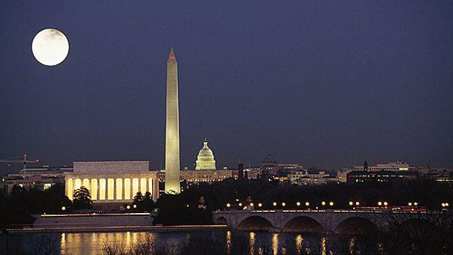 Great shot of Washington, D.C. at night.