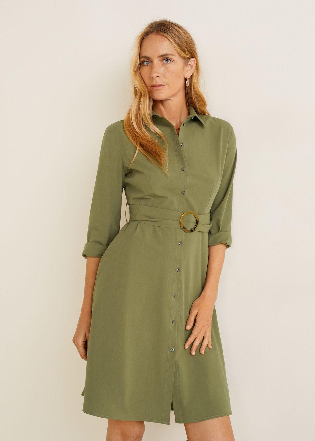 Online Fashion Belted Shirt Dress Shirt Dress Womens Dresses