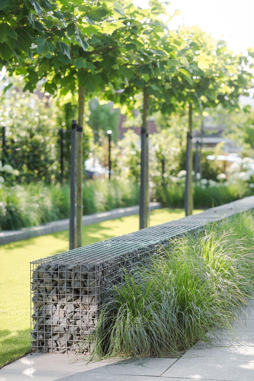 Moderne tuin met gras let 39 s go outside thuis for Tuin inspiratie modern