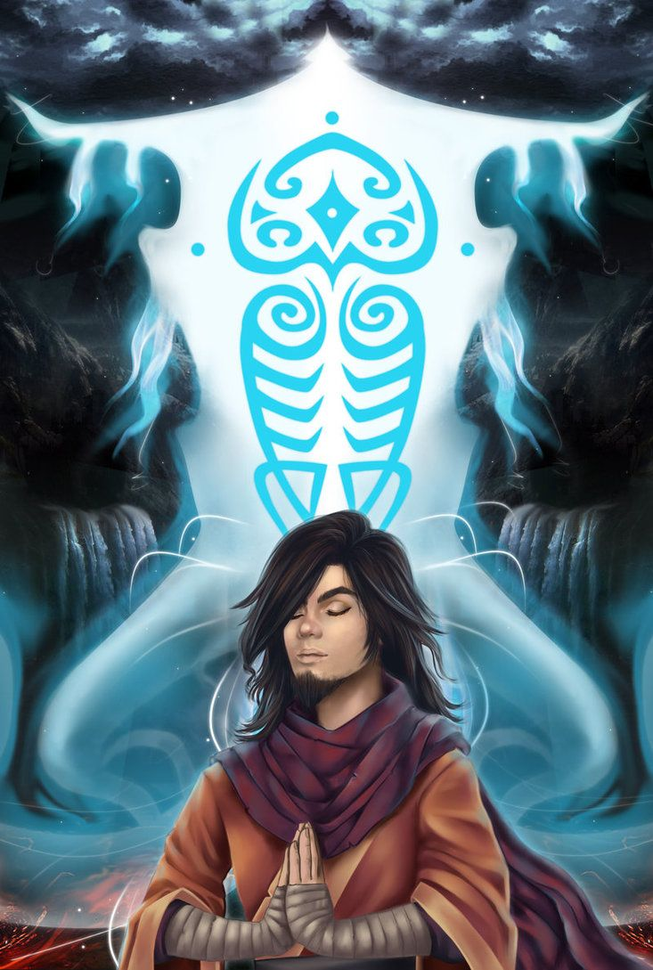 Always Be Together - Wan and Raava - The Legend of Korra - by BeaRabbit on deviantART