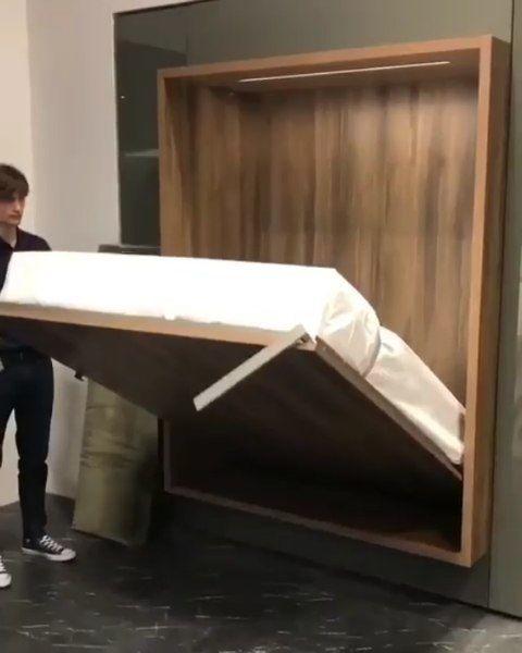 Wall Bed😍Do You Need It? 🙋🏼♀️اینم یه تخت دیواری باحال