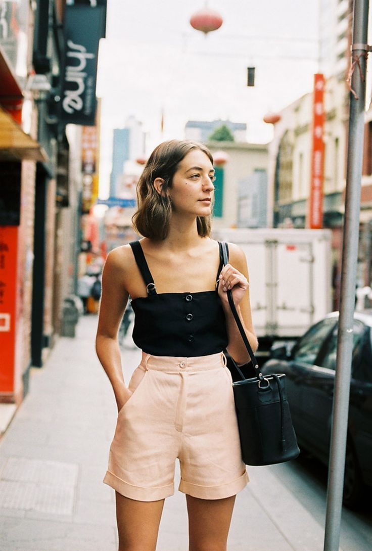 7e969e81fd9b76 Caves Collect  Blush  High Waisted Shorts  90 s Cuts Pink Shorts Outfit