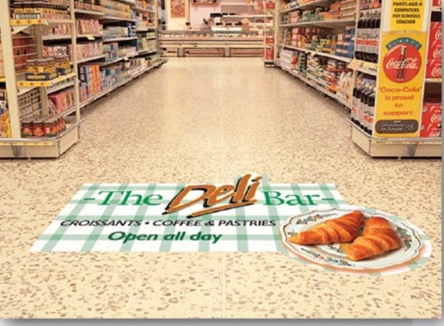 Superior By Using Floor Decals In Grocery Stores, You Can Also Direct Shoppers To  Different Departments