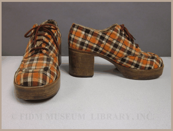 349c231db3 70s orange and brown plaid platform shoes | Mr Tight Pants LOL! in ...