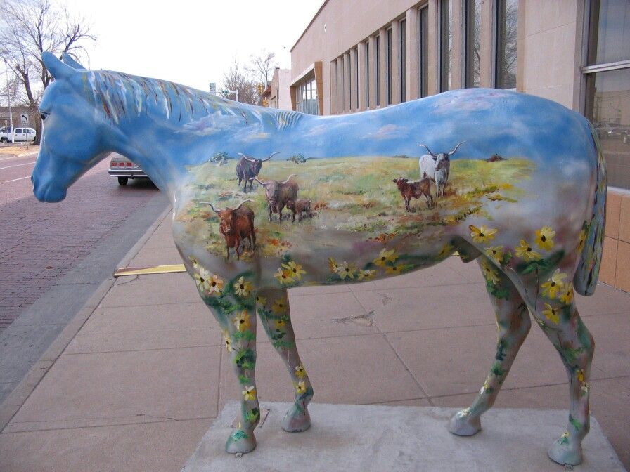 Quarter horse art. Amarillo, Texas West road, Old west
