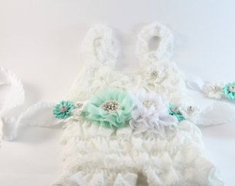 Baby girls' clothing 2pcs Light Aqua Lace Petti by HappyBOWtique