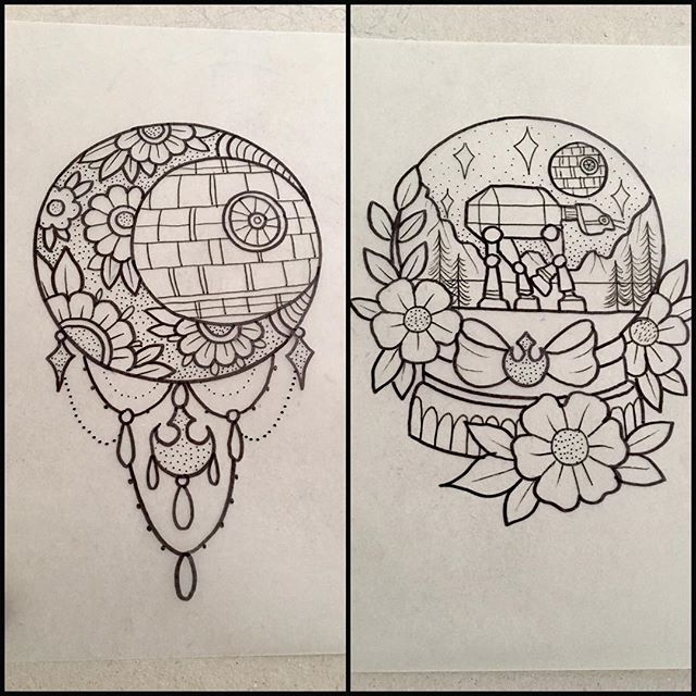 Day of drawing for me. Available for march bookings. #starwars#deathstar#tattoo#design#drawing#ink#plymouthtattoo #atat#deathstartattoos#starwarstattoo#rebelforce#snowglobetattoo