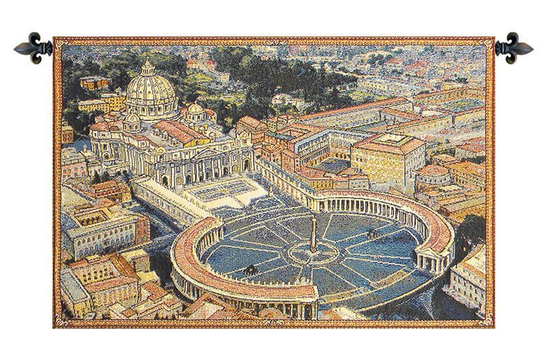 St. Peters Square Italian Wall Tapestry