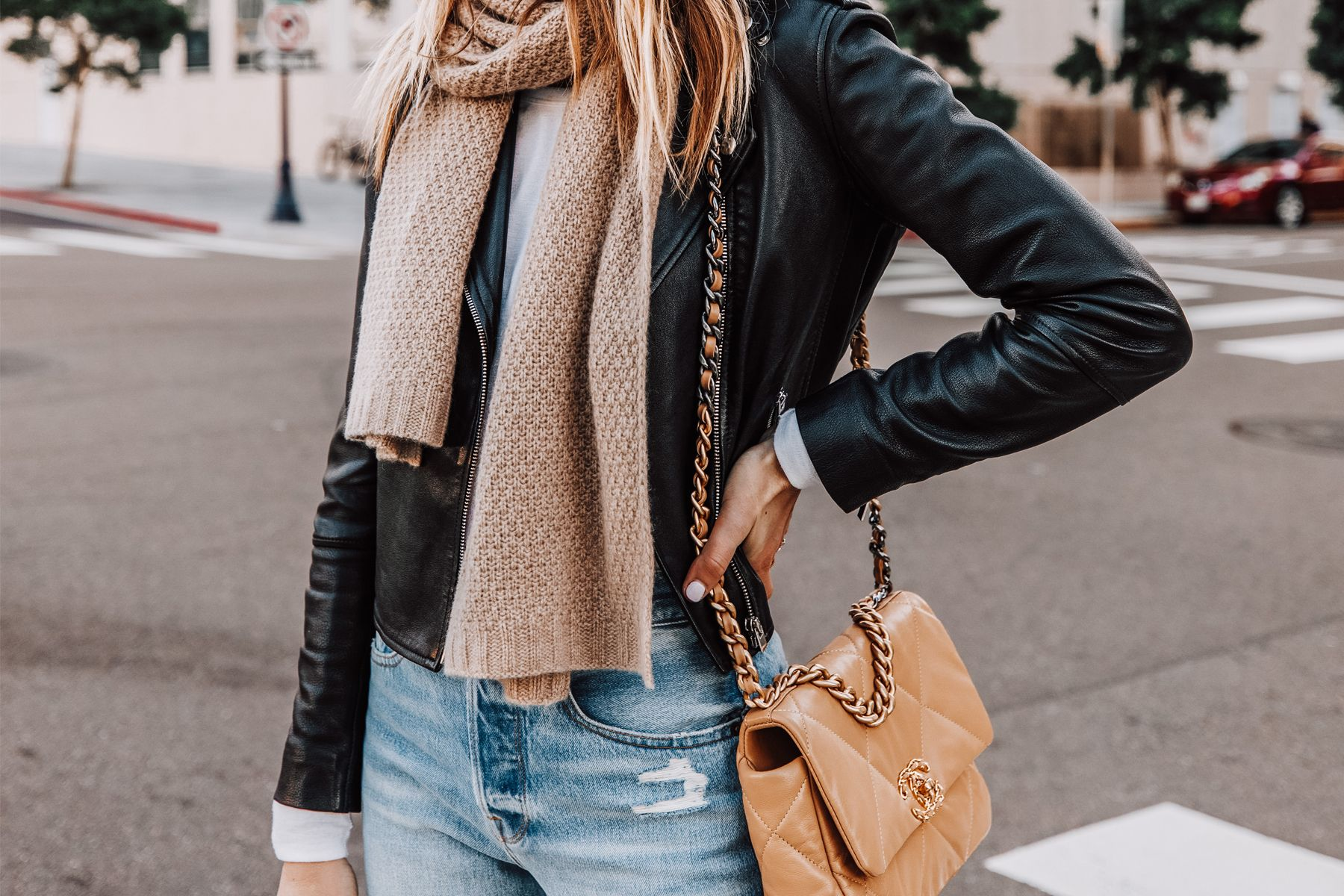 How To Style A Black Leather Jacket For A Cold Winter Weekend Fashion Jackson Leather Jacket Street Style Leather Jacket Fashion Jackson [ 1200 x 1800 Pixel ]