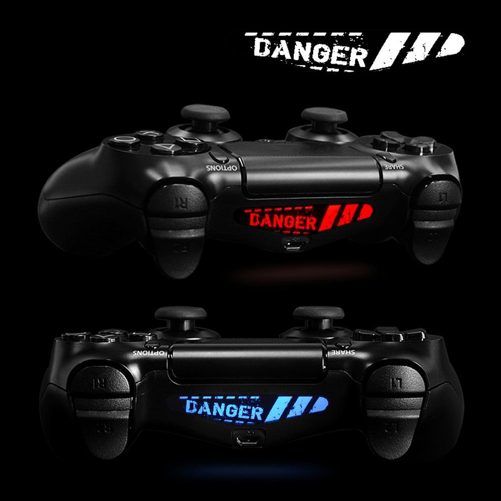Extremerate 60 Pcs Set Vinyl Reuseable Lighttight Led Light Bar Decals Stickers For Playstation 4 Ps4 Ps4 Slim Ps4 Pro Remote Controller Skins Set Game Playstation Game Themes