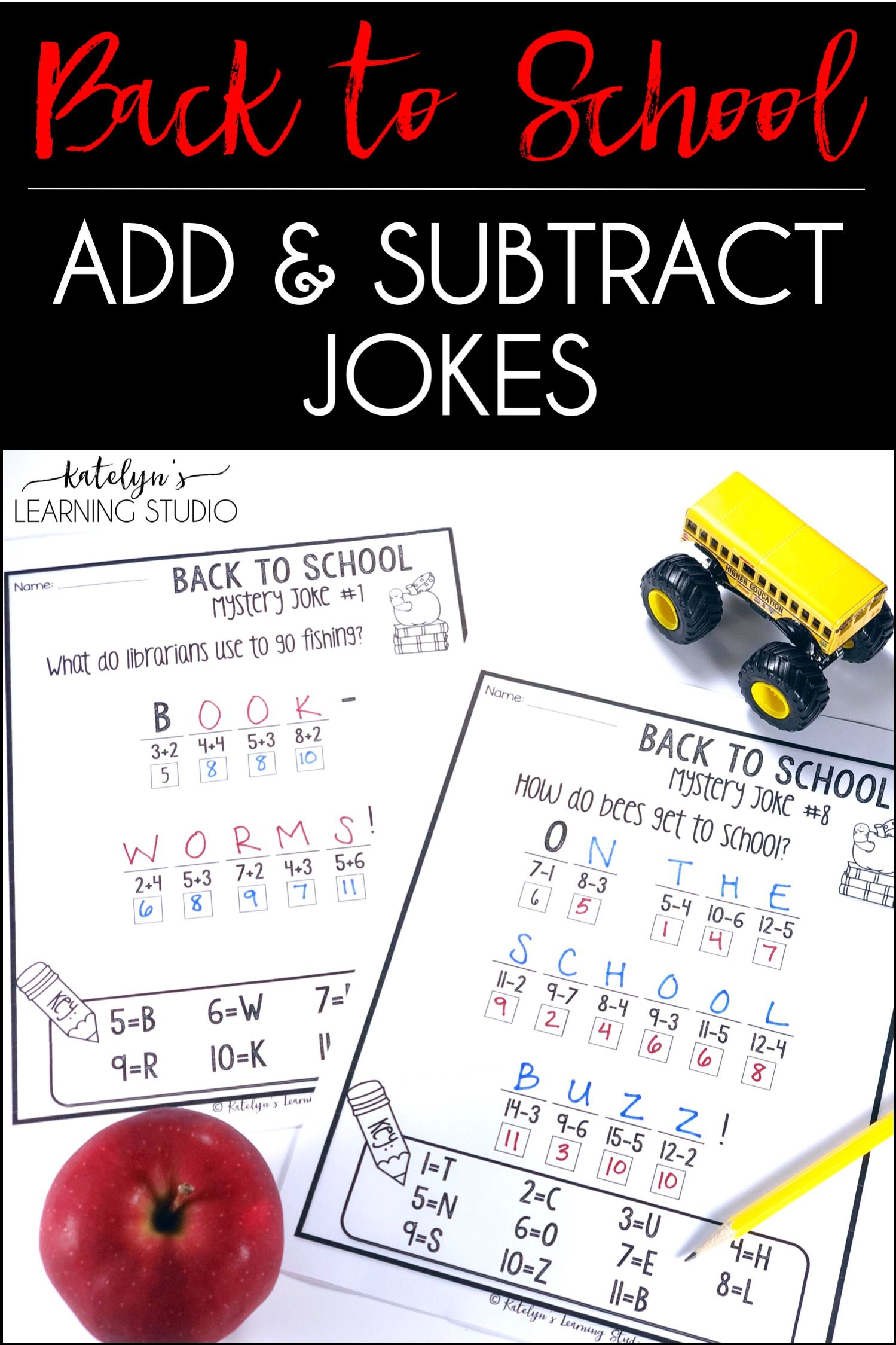 These Back To School Math Printables For 1st And 2nd Grade Give Elementary School Students Practice Solving Basic Addition Math Activities Math Back To School [ 2249 x 1499 Pixel ]