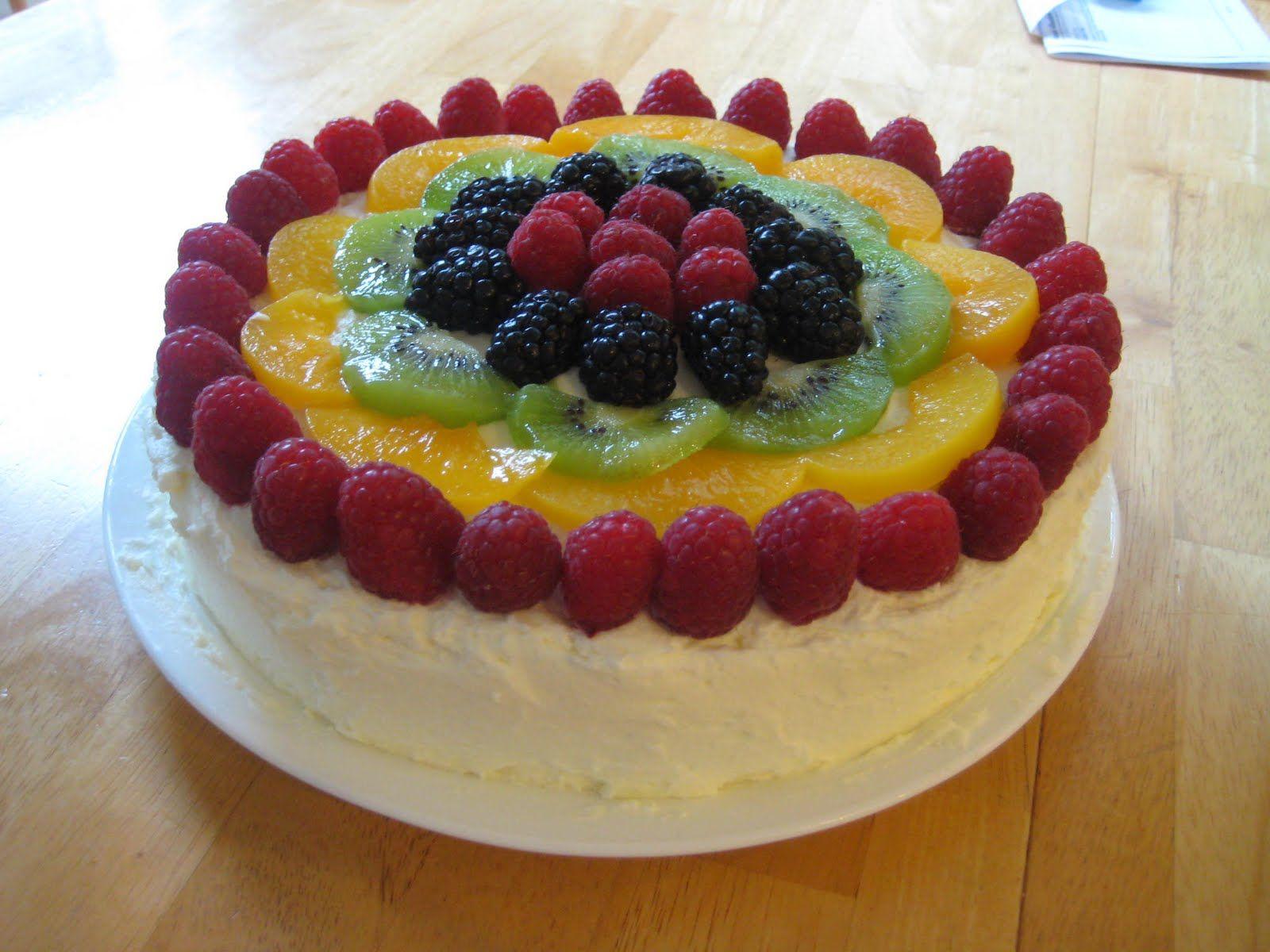 Chinese sponge fruit cake style fruit sponge cake cake