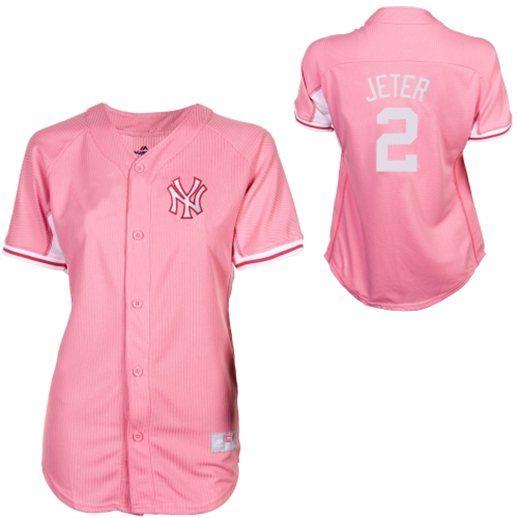 Majestic Derek Jeter New York Yankees Youth Girls Batting Practice Jersey 7bea81edf94